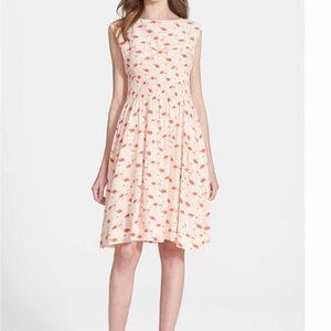 Kate Spade 'Blaire' Flamingo Dress Sz 4 EUC